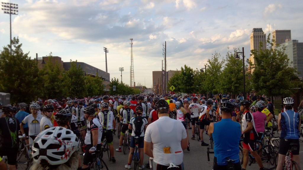 2013 Tulsa Tough Saturday Gran Fondo: 2k riders ready to roll.